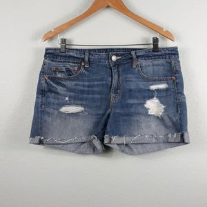 American Eagle Outfitters distressed shorts 10